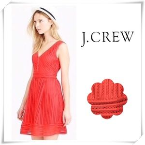 J.Crew Eyelet Lace Dress Red